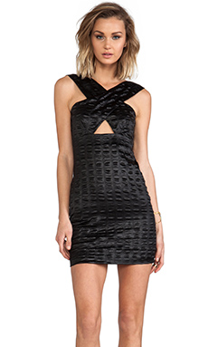 AGAIN Corvette Dress in Scaled Black