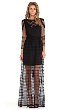 Alice by Temperley Angelina Maxi Dress in Black