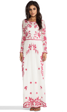 Alice by Temperley Long Clover Dress in Geranium