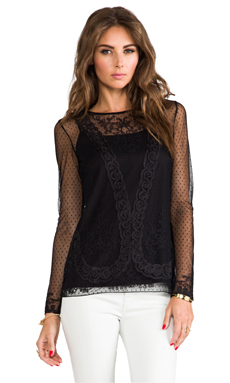 Alice by Temperley Luisa Top in Black