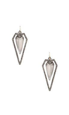 Alexis Bittar Santa Fe Deco Arrow Earring in Grey