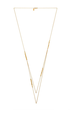 Alexis Bittar Crystal Encrusted Rocky Station Necklace in Gold