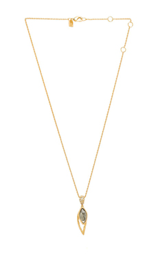 Alexis Bittar Lacy Leaf Pendant Necklace in Gold