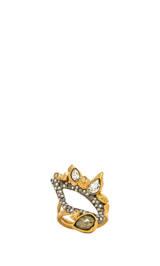 Alexis Bittar Rocky Ring en Gold & Ruthenium