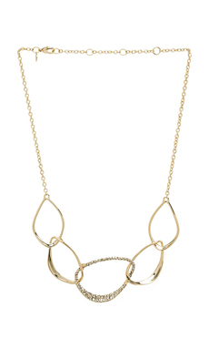 Alexis Bittar Five Link Orbiting Aura Necklace en Or