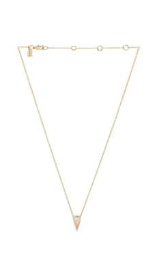 Alexis Bittar Pyramid Charm Pendant Necklace in Gold