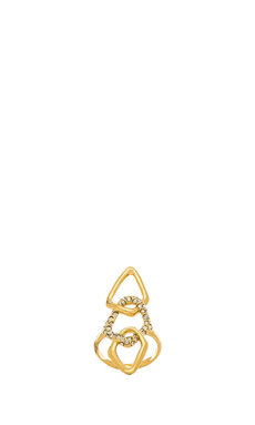 Alexis Bittar Encrusted Link Ring en Or