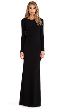 Alice + Olivia Long Sleeve Maxi Dress in Black