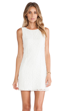 Alice + Olivia Dot Sleeveless Dress in White