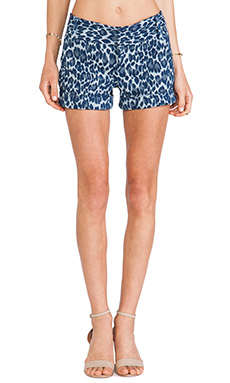 Alice + Olivia Cady Cuff Shorts in Denim