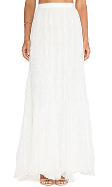 Alice + Olivia Louie Maxi Skirt in Cream