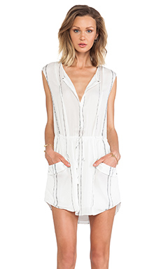 A.L.C. Kearny Stripe Dress in White