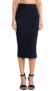 A.L.C. Lucas Skirt in Navy