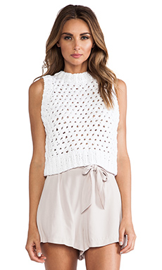 A.L.C. Cross Cropped Tank in White