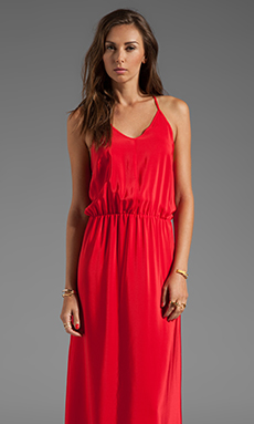 Amanda Uprichard Y-Back Maxi Dress in Red