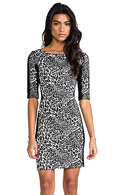 Amanda Uprichard Viva Mini Dress in Cheetah Ponti