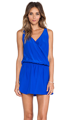 Amanda Uprichard Double Crossover Dress in Royal