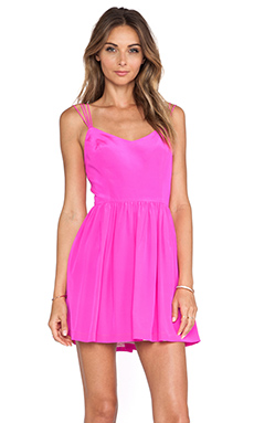 Amanda Uprichard Afternoon Dress in Hot Pink