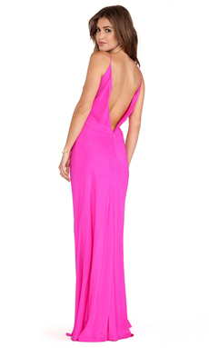 Amanda Uprichard EXCLUSIVE Bias Maxi Dress in Hot Pink