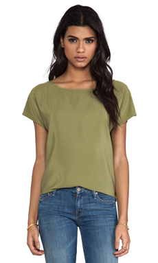 Amanda Uprichard Big Tee in Olive