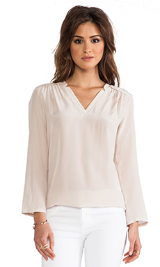 Amanda Uprichard Simon Blouse in Bone