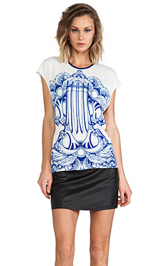 Alice McCall Off the Coast Tee in Flocked Combs