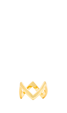 Alex Mika Crown Ring in Gold