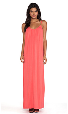 amour vert Marina Maxi Dress in Guava