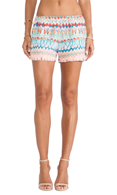 amour vert Sherry Short in Ikat Coral