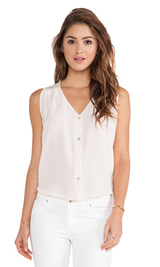 amour vert Anita Sleeveless Blouse in Blush Pink