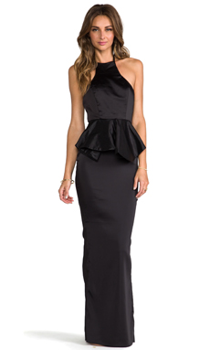 AQ/AQ Allesandra Maxi Dress in Black
