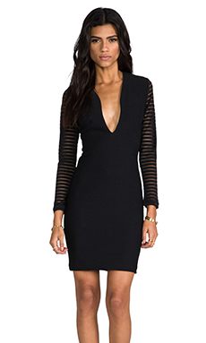 AQ/AQ Belle Mini Dress in Black