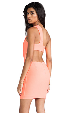 AQ/AQ Felix Mini Dress in Pink Grapefruit