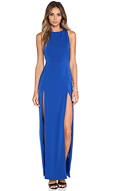 AQ/AQ Lexi Maxi Dress in Surf The Web Blue