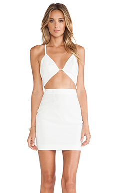 AQ/AQ Informa Mini Dress in Cream