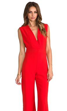 AQ/AQ Phoebe Jumpsuit in Poppy Red