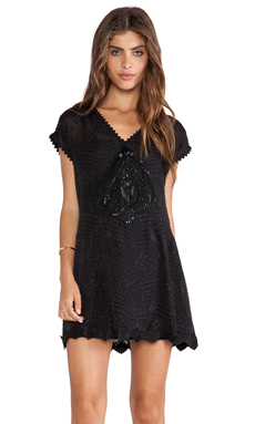 Anna Sui Anna's Essential Jacquard Dress en Noir