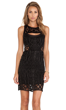 Alexis Dara Lace Mini Dress in Lurid Black