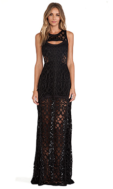 Alexis Natuna Lace Gown in Lurid Black