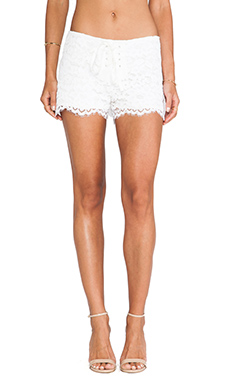 Alexis Martinique Lace Shorts in Ivory