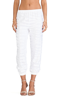 Alexis Tera Track Pants in White Safari