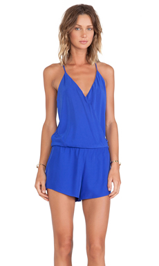 Alexis Palma Cross Over Romper in Cobalt