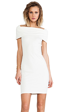 Backstage Karolina Off Shoulder Dress in Ivory