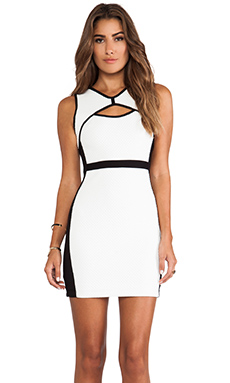 Bailey 44 Pop-Up Dress in Chalk & Black