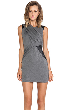 Bailey 44 Leaf Devil Dress en Gris & Noir