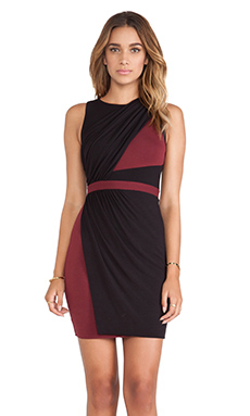 Bailey 44 Dover Dress en Noir & Pomme