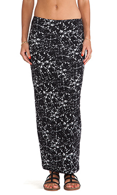 Bailey 44 Drip Paining Skirt in Black