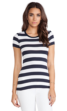 Bailey 44 Core Short Sleeve T in Rugby Stripe