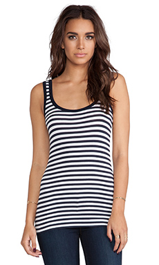 Bailey 44 Core Striped Tank in Even Stripe