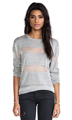 Banjo & Matilda Malibu Crew Sweater in Grey